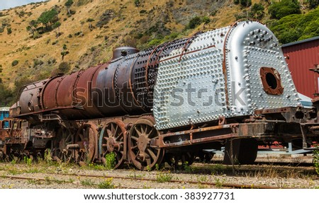 Main Boiler Area Old Steam Train Stock Photo (Edit Now) 383927731 ...