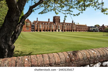 The main building of Eastbourne College, an independent school in the south coast seaside town of Eastbourne.