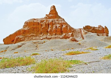 Main buildings in Subash Buddhist Ruins, Ancient Silk Road, Kuqa, Xinjiang, China