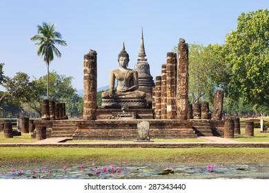 Main chapel in Wat Maha That, Shukhothai Historical Park, Thailand