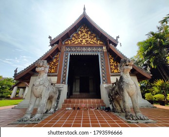 The main chapel of Wat Nong Bua in Nong Bua village, Nan province, THAILAND. (The letters on the floor mean Please take off your shoes.)