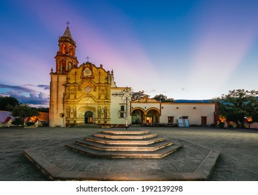 Main church in the municipality of Jalpan de Serra in the Sierra Gorda de Queretaro, Mexico better known as Misiones with different angles and hours of light.