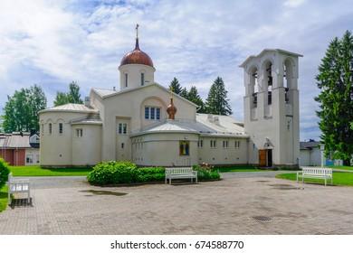 The main church of the New Valamo Orthodox monastery in Heinavesi, Finland