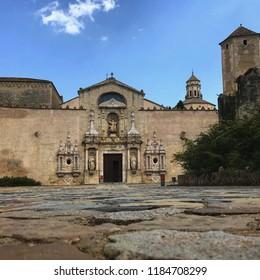 Main façade of the Cistercian monastery of Santa Maria de Poblet