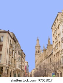 Logroño, main city of Rioja community,Spain.