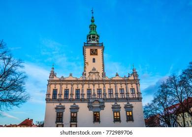 Main city square - Town Hall in Chelmno, Poland.