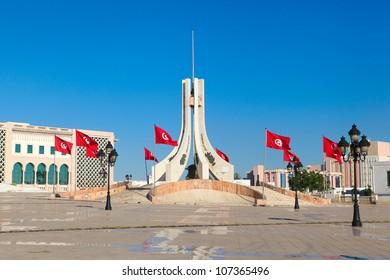 Main city square in Tunis