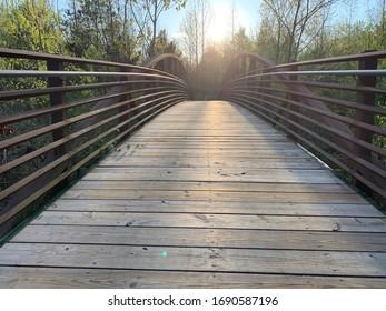 Main creek & trail bridge in Shelby County public park 2