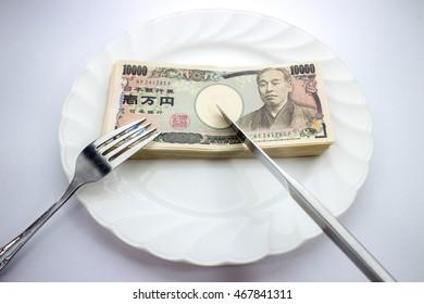 Main dish of money
