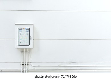 Main Distribution Board control electricity place in outside building