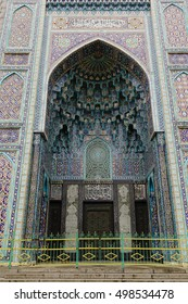 Main door of Saint Petersburg Mosque in Russia. It is was the largest mosque in Europe outside Turkey.
