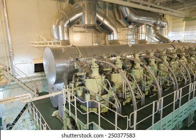 main engine of a big ship