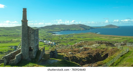 Main Engine house in Allihies West Cork Ireland. Old copper mines.