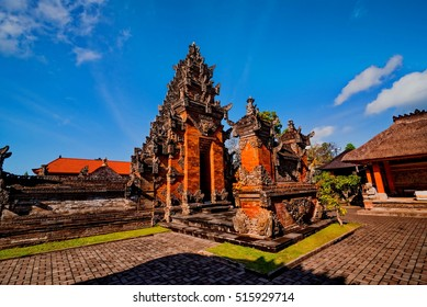 Main entrance of country temple in Bali,Indonesia.