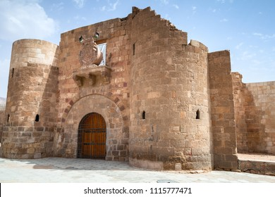 Main entrance gate of Aqaba Fortress, Mamluk Castle or Aqaba Fort located in Aqaba city, Jordan