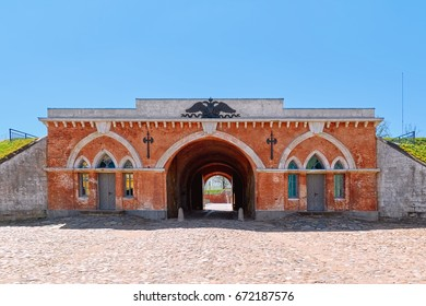 Main Entrance Gate of Dinaburg Fortress in Daugavpils, Latvia