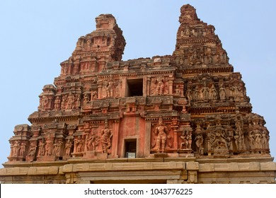 Main entrance gopuram or gate. Vitthal Temple, Hampi, Vijayanagar , UNESCO World Heritage site, Karnataka