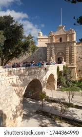 Main entrance to the medieval walled town of Mdina, Malta. 10th October 2012