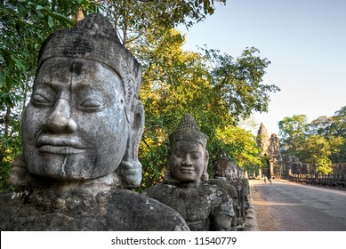Main entrance of the old city of  Angkor Thom, Siem Reap, Cambodia.