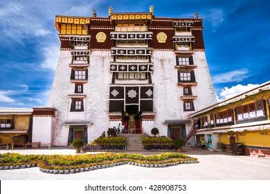 Main entrance to Potala Palace in Lhasa, Tibet