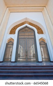 Main entrance to the state mosque in Doha, Qatar.