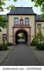 Main entrance to the Steinfeld Abbey (Kloster Steinfeld), Germany