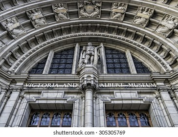 Main entrance to Victoria and Albert Museum, London, England