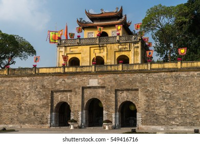 The main gate of the former imperial citadel Thang Long in Vietnams capital Hanoi