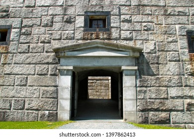 The main gate at Fort Knox in Prospect, Maine
