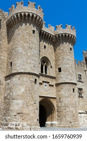 The main gate of Grand Master Palace in Rhodes town, Rhodes island, Greece.