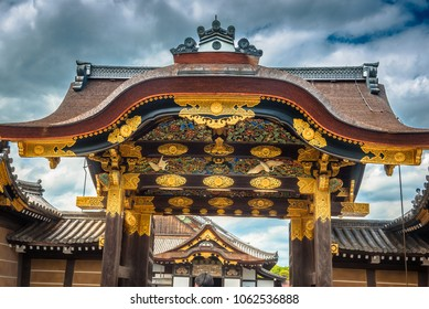 Main gate to Ninomaru Palace at Nijo Castle in Kyoto, Japan
