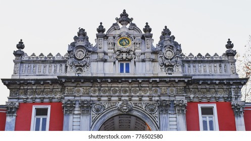 Main gate of Istanbul's Ottoman-era Dolmabahce Palace