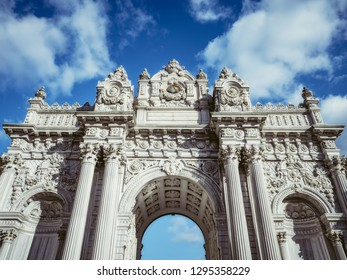 Main gates of the Dolmabahce Palace. Istanbul, Turkey
