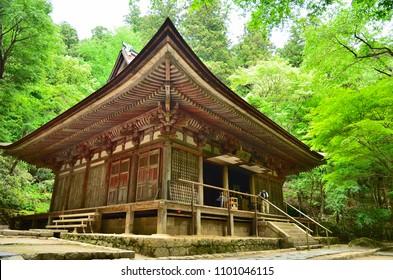 The main hall of a Buddhist temple of Muro-ji Temple