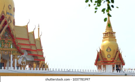main hall with ordination hall in  temple of Thailand, wat-plong-arkas
