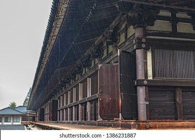 Main hall of the Sanjusangen-do in Kyoto, Japan