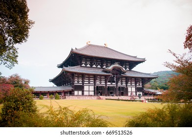 Main hall of Todaiji Temple - Nara - Japan