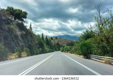 Main highway in Crete pedgus across the island