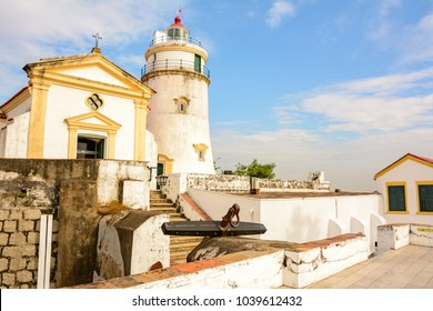 The main historical landmark of the city of Macau - Lighthouse Guia