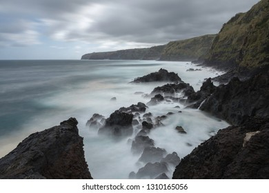 The main island of the Azores, São Miguel and his stunning coast, long exposure