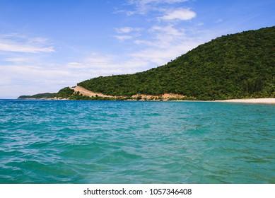 The main island of Cu Lao Cham Marine Park (also known as Cham Islands Biosphere Reserve) near Hoi An, Vietnam