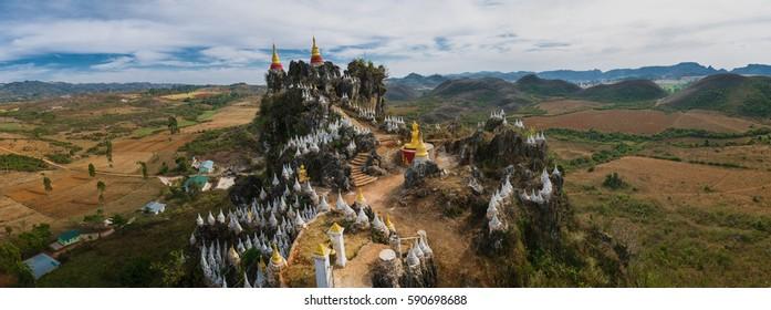 Main Ma Ye Thakinma Taung Mountain Temple - Myanmar