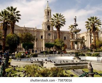 Main plaza in Arequipa
