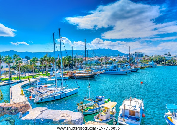 Der Haupthafen der Insel Kos in Griechenland. HDR verarbeitet