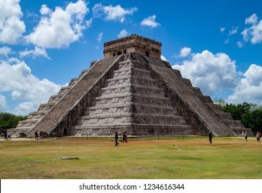 The main pyramid at Chichen Itza in Mexico