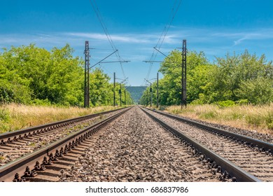 main railway speed track
