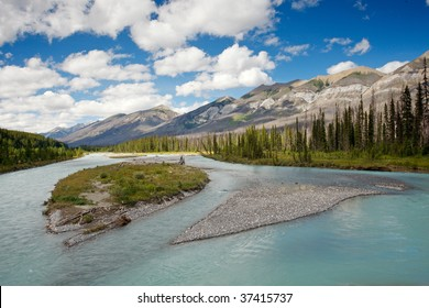 Main river in Banff National Park, Canadian Rockies