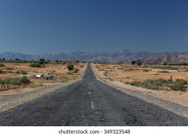 The main road between Marrakesh and Ouarzazate, Morocco