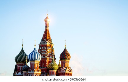 the main Russian orthodox church on the Red Square, red orthodox church, Russian culture, Putin, Kremlin and Russian foreign policy.