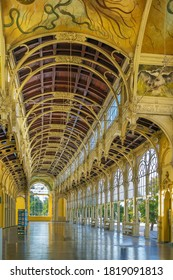 Main Spa Colonnade in Marianske Lazne, Czech republic. Neo-Baroque colonnade was built between 1888 and 1889.  - Shutterstock ID 1819091813